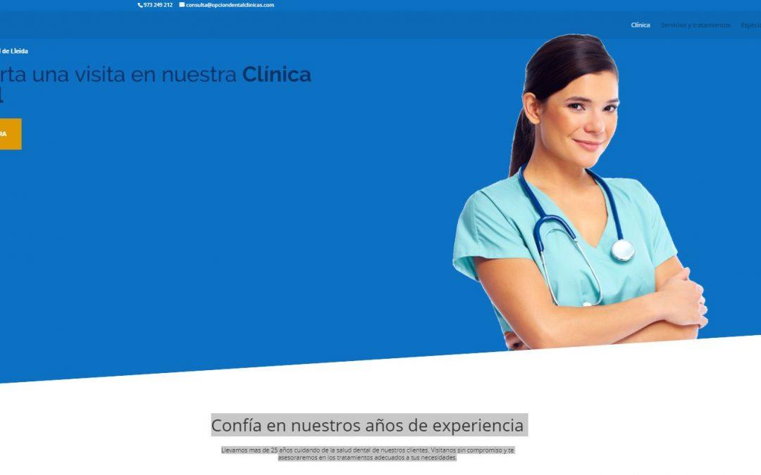 Nueva web Opción Dental Clinicas
